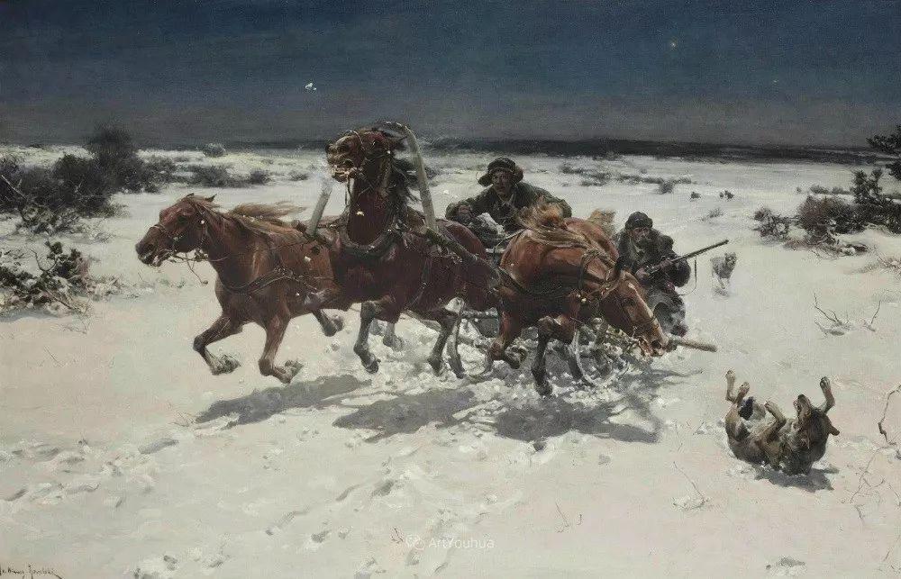马拉雪橇,波兰艺术家科瓦尔斯基插图20