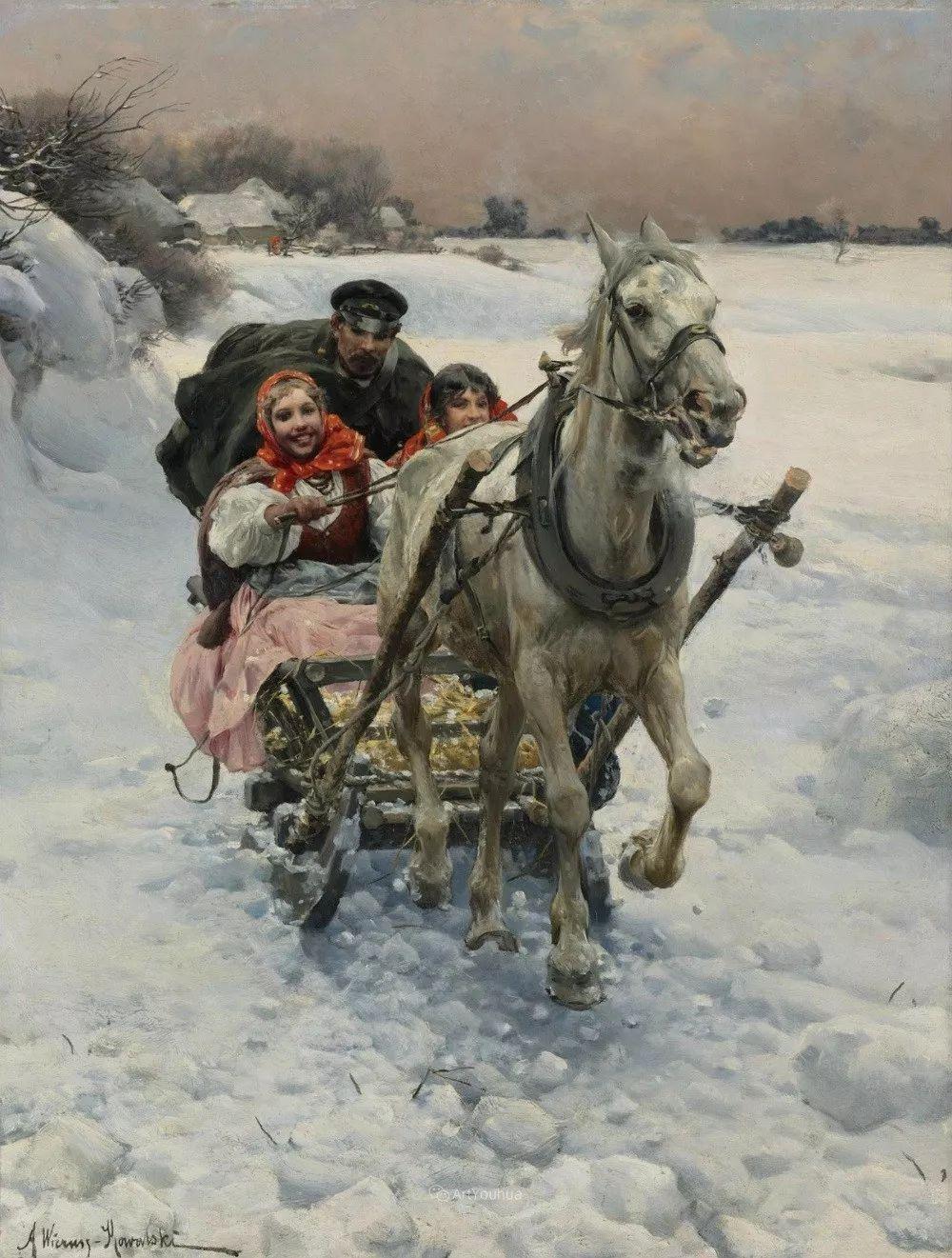 马拉雪橇,波兰艺术家科瓦尔斯基插图22