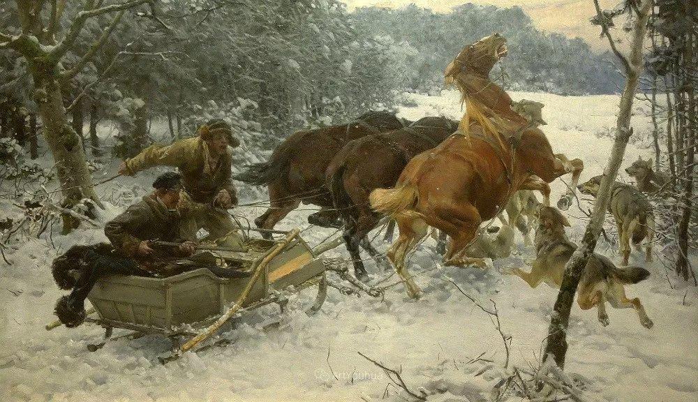 马拉雪橇,波兰艺术家科瓦尔斯基插图28