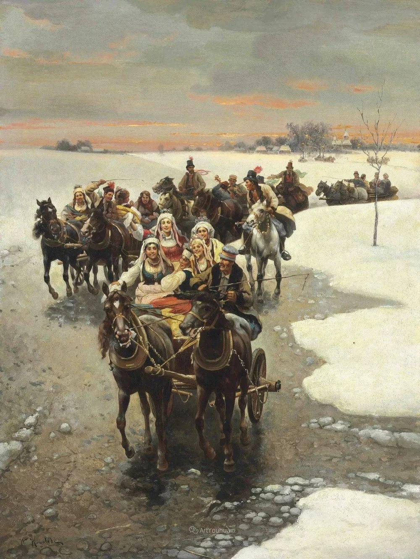 马拉雪橇,波兰艺术家科瓦尔斯基插图30
