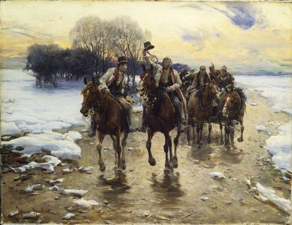 马拉雪橇,波兰艺术家科瓦尔斯基插图31