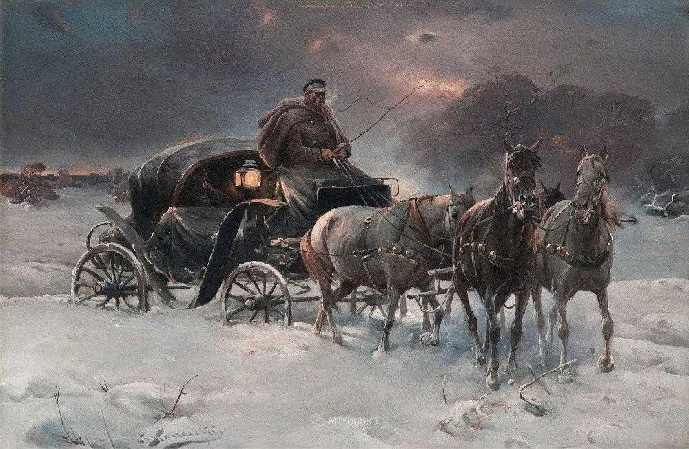 马拉雪橇,波兰艺术家科瓦尔斯基插图35