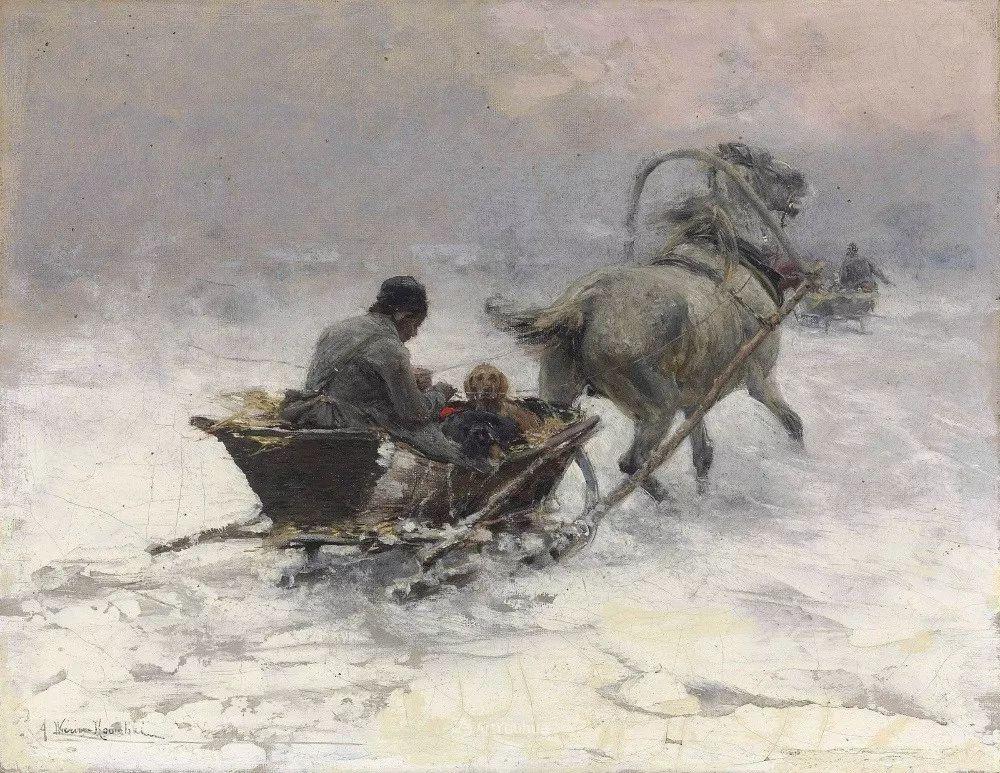 马拉雪橇,波兰艺术家科瓦尔斯基插图37