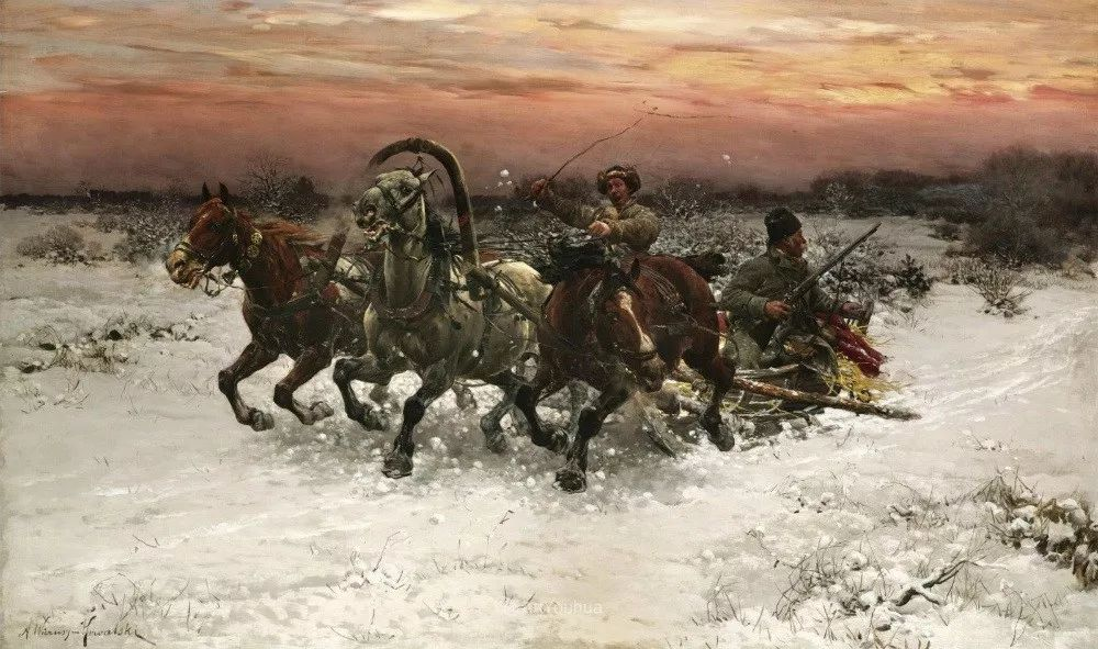 马拉雪橇,波兰艺术家科瓦尔斯基插图39