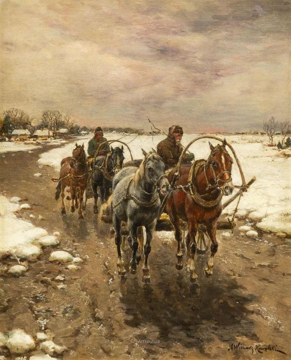 马拉雪橇,波兰艺术家科瓦尔斯基插图40