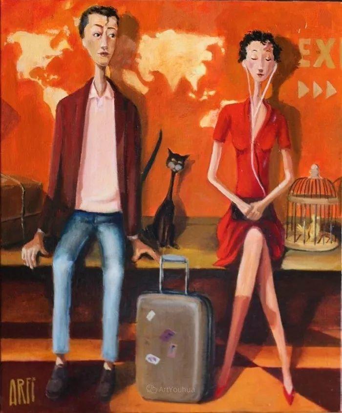 具象的故事叙述,法国画家乔尔·阿菲插图2