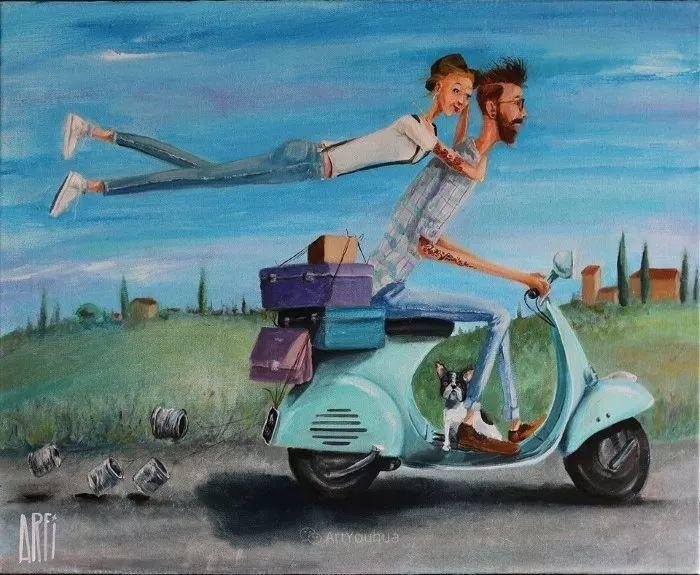 具象的故事叙述,法国画家乔尔·阿菲插图13
