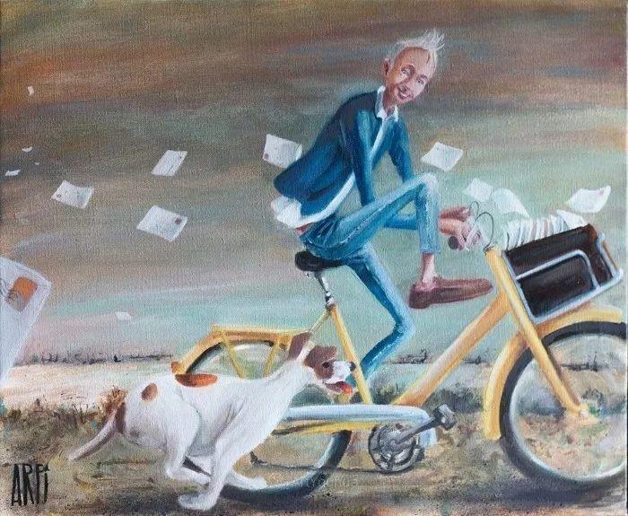 具象的故事叙述,法国画家乔尔·阿菲插图14