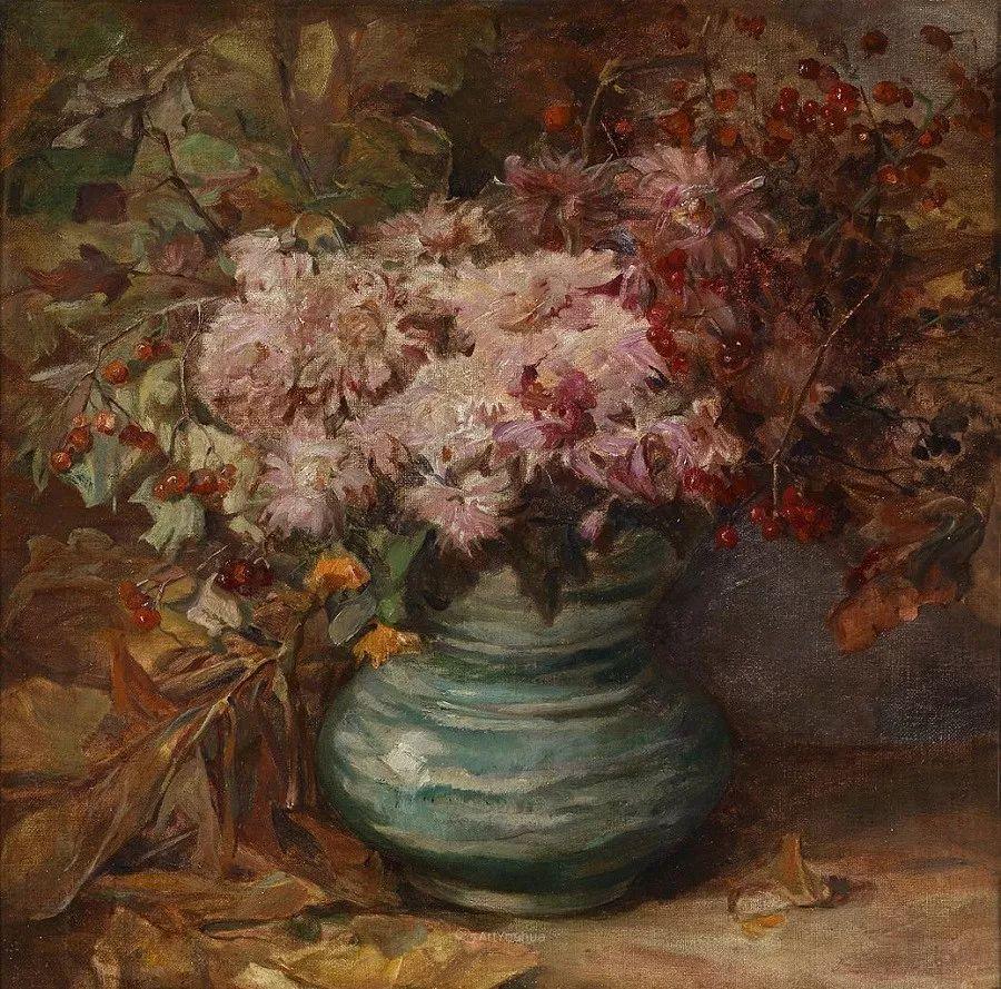花卉篇,奥地利女画家奥尔加作品二插图9