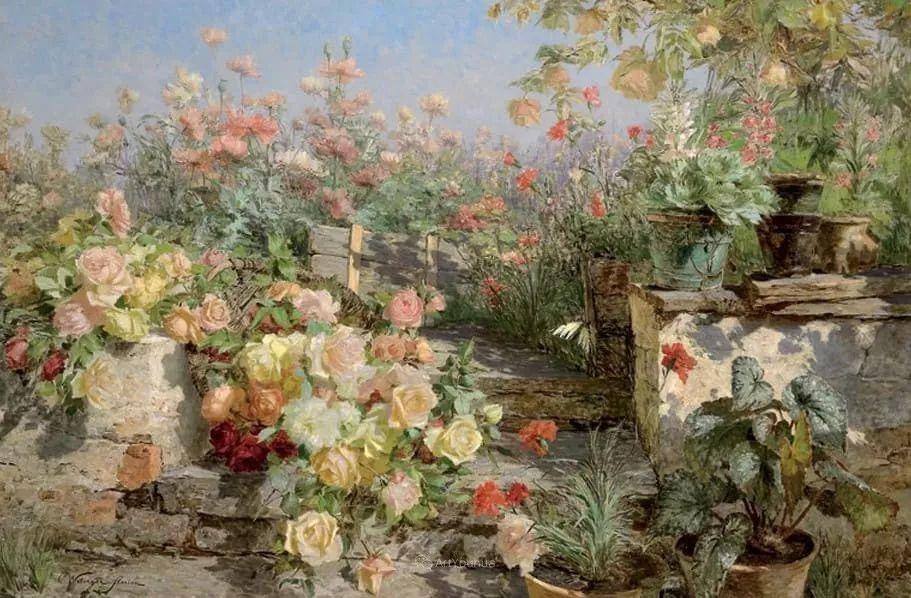花卉篇,奥地利女画家奥尔加作品二插图12
