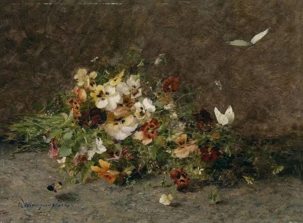 花卉篇,奥地利女画家奥尔加作品二插图13