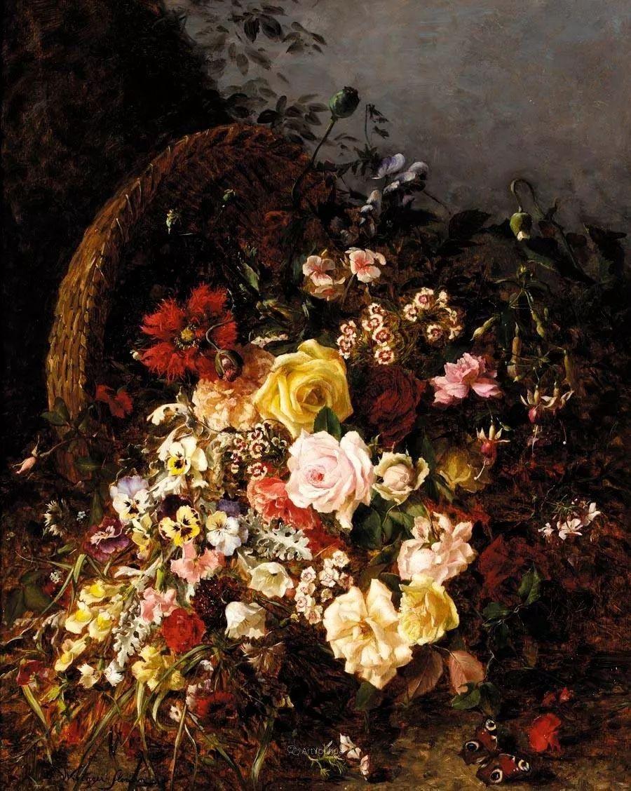 花卉篇,奥地利女画家奥尔加作品二插图19