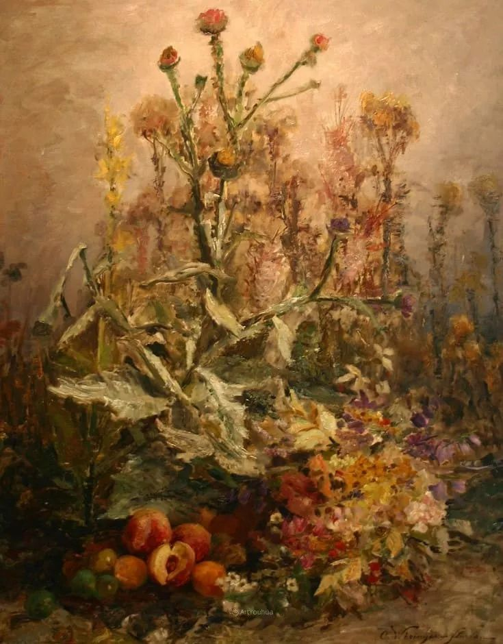 花卉篇,奥地利女画家奥尔加作品二插图25