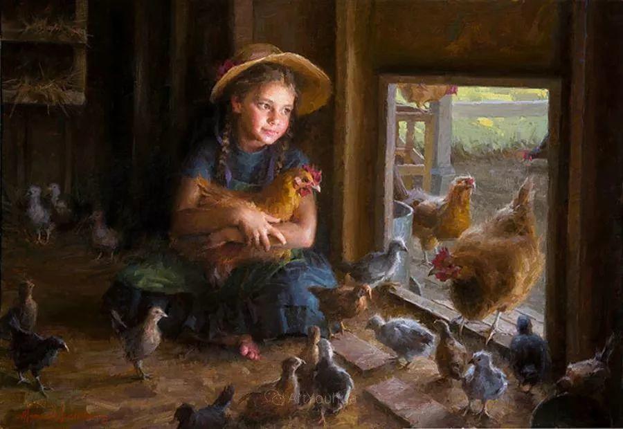 最平凡的幸福,有爱的儿童油画!美国画家摩根·威斯特林作品集一插图