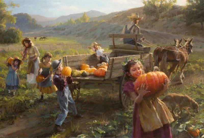 最平凡的幸福,有爱的儿童油画!美国画家摩根·威斯特林作品集一插图1