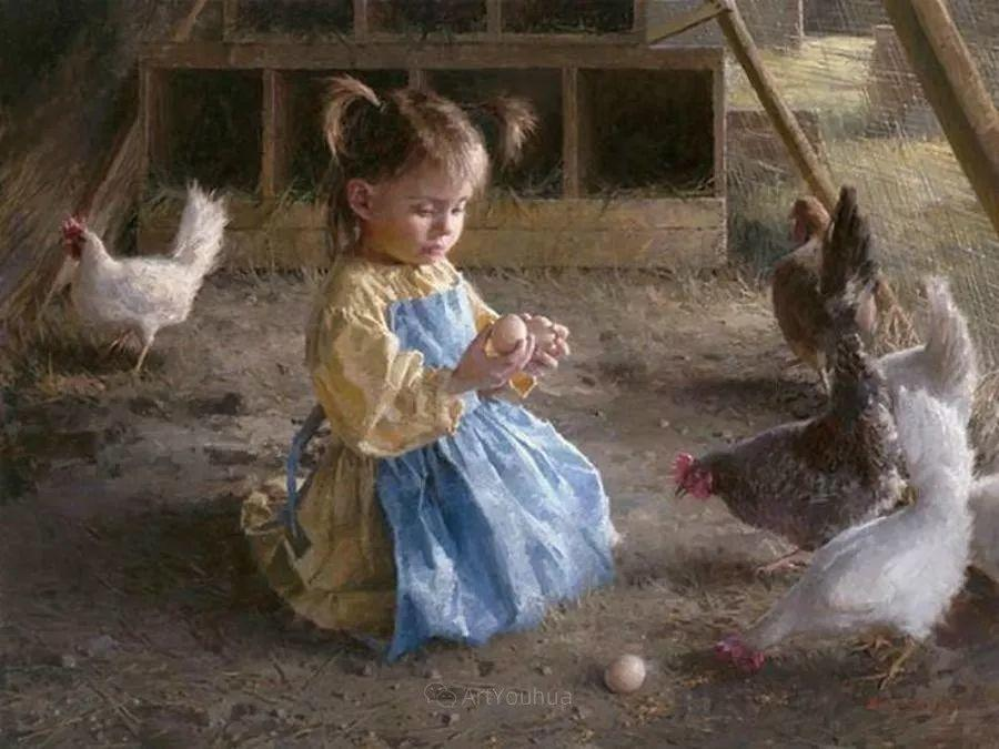 最平凡的幸福,有爱的儿童油画!美国画家摩根·威斯特林作品集一插图2