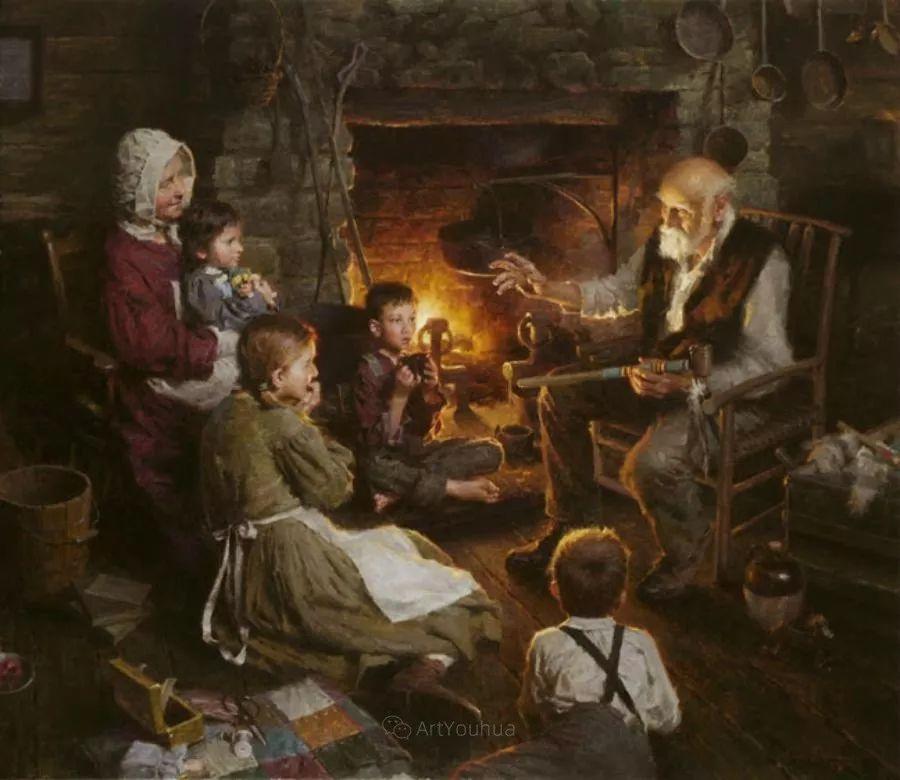 最平凡的幸福,有爱的儿童油画!美国画家摩根·威斯特林作品集一插图4