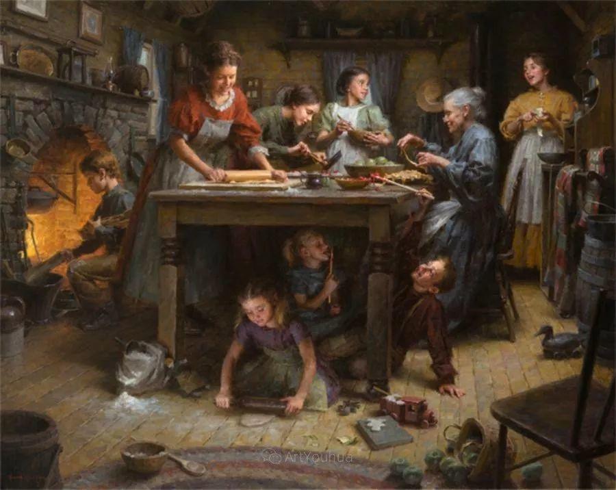 最平凡的幸福,有爱的儿童油画!美国画家摩根·威斯特林作品集一插图5