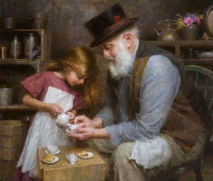 最平凡的幸福,有爱的儿童油画!美国画家摩根·威斯特林作品集一插图8