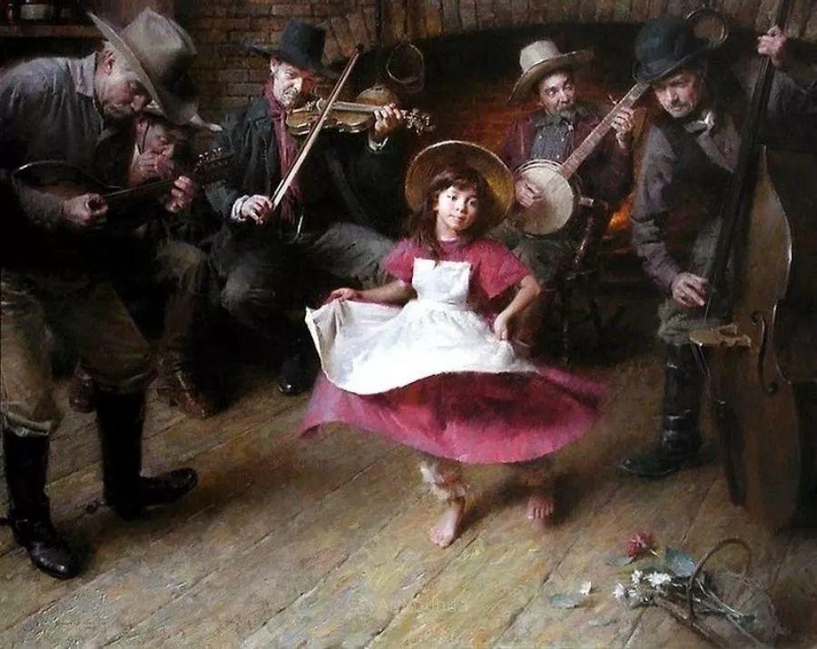 最平凡的幸福,有爱的儿童油画!美国画家摩根·威斯特林作品集一插图9