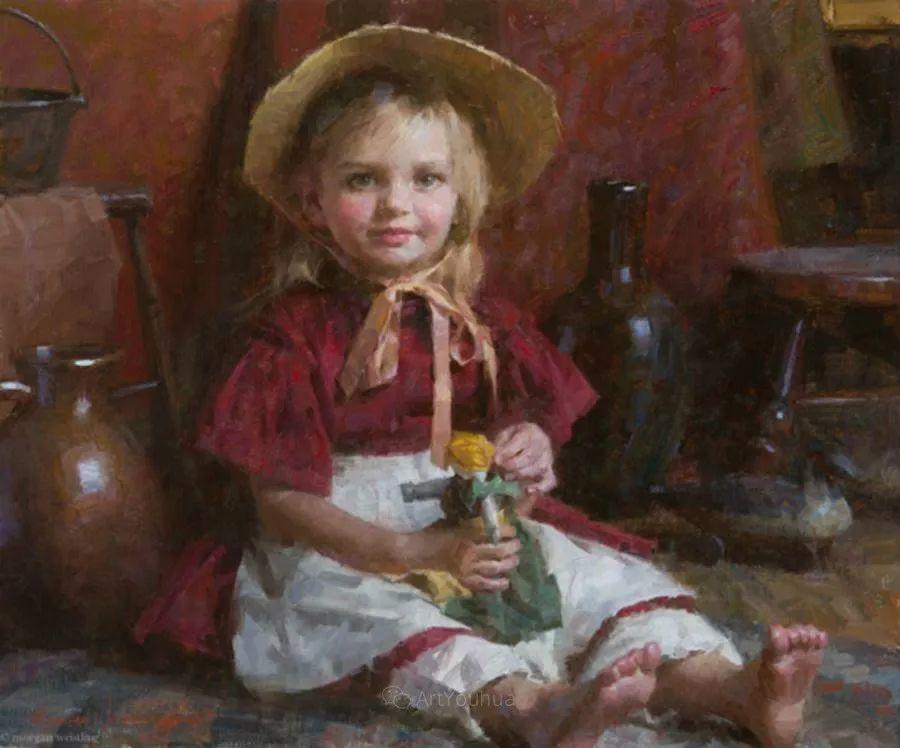最平凡的幸福,有爱的儿童油画!美国画家摩根·威斯特林作品集一插图10