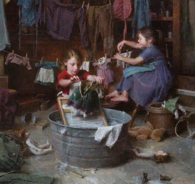 最平凡的幸福,有爱的儿童油画!美国画家摩根·威斯特林作品集一插图11