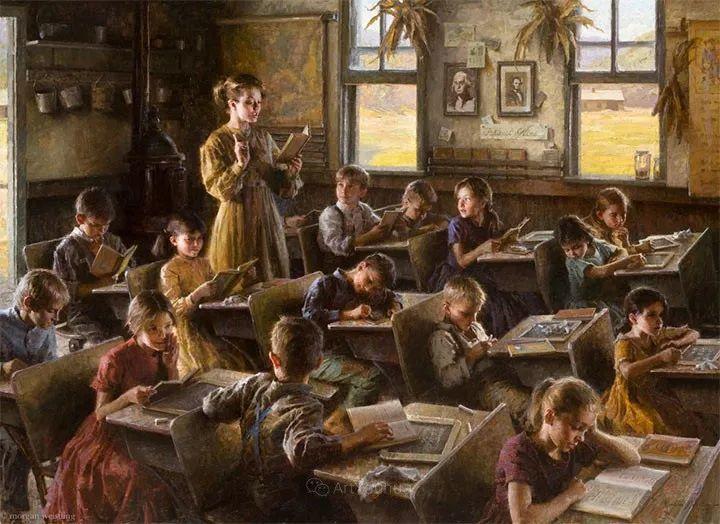 最平凡的幸福,有爱的儿童油画!美国画家摩根·威斯特林作品集一插图12