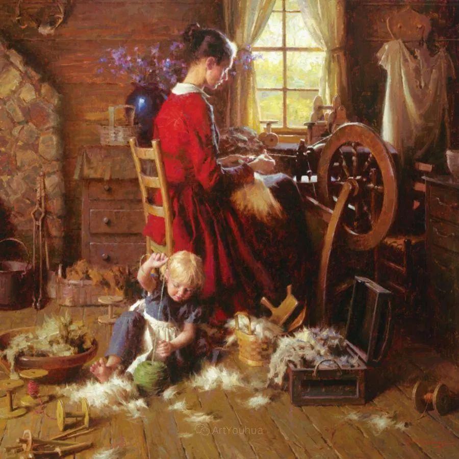 最平凡的幸福,有爱的儿童油画!美国画家摩根·威斯特林作品集一插图13