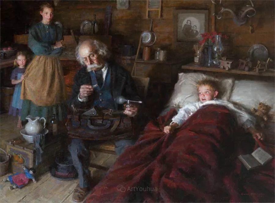 最平凡的幸福,有爱的儿童油画!美国画家摩根·威斯特林作品集一插图14