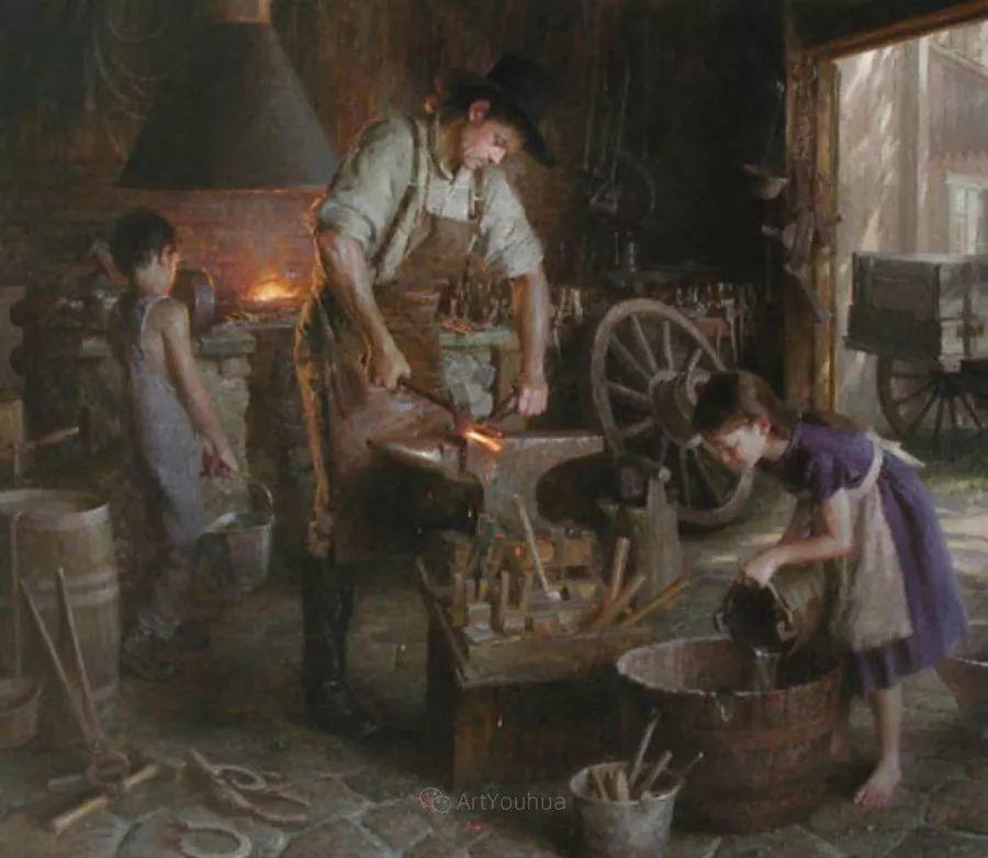 最平凡的幸福,有爱的儿童油画!美国画家摩根·威斯特林作品集一插图15