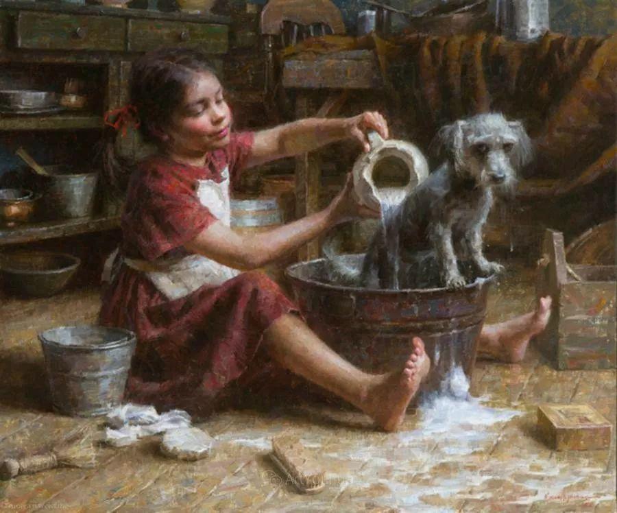最平凡的幸福,有爱的儿童油画!美国画家摩根·威斯特林作品集一插图17