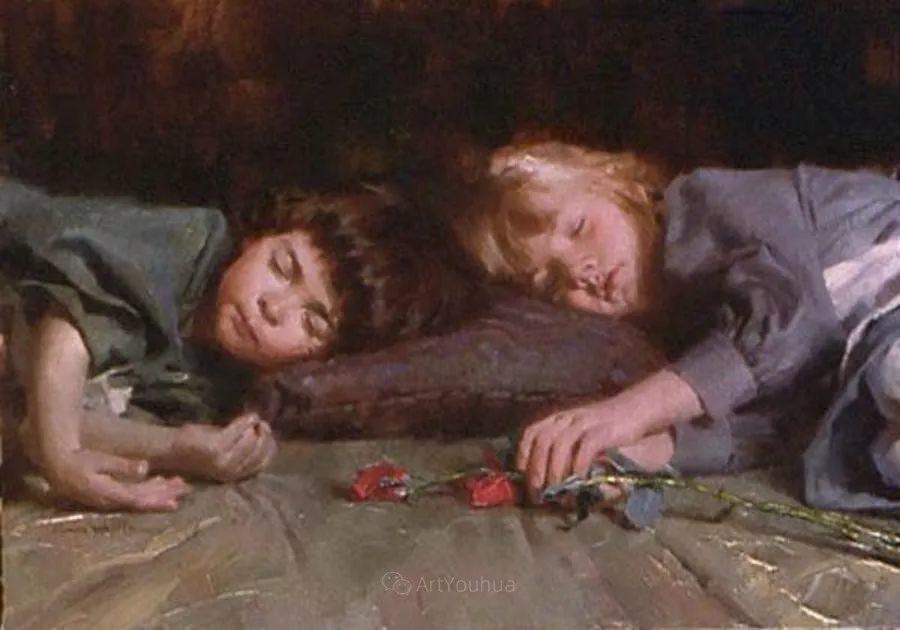 最平凡的幸福,有爱的儿童油画!美国画家摩根·威斯特林作品集一插图18