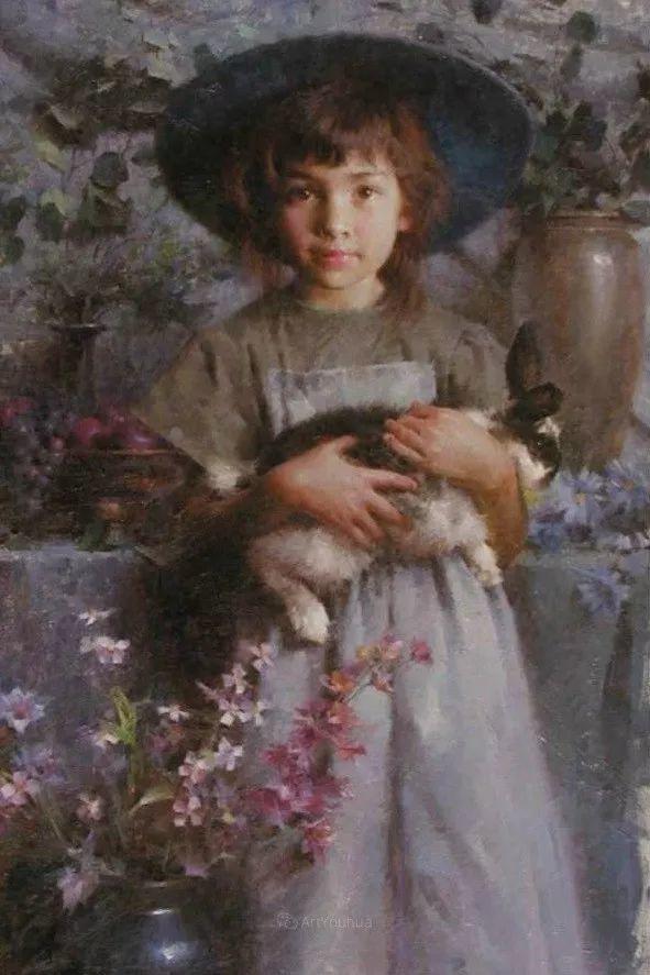 最平凡的幸福,有爱的儿童油画!美国画家摩根·威斯特林作品集一插图19