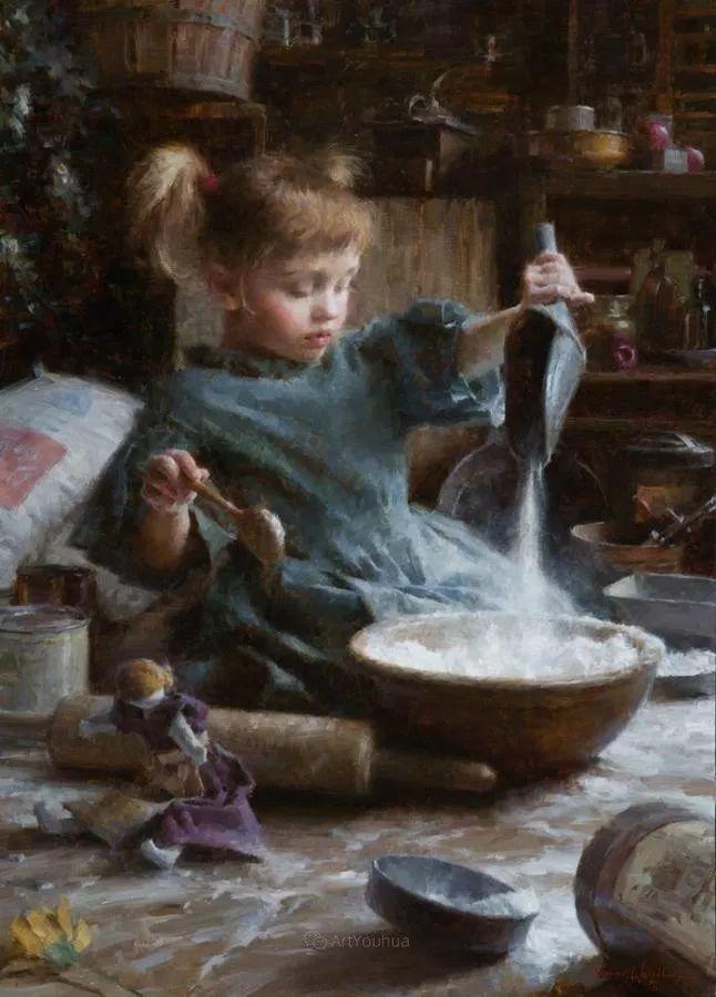 最平凡的幸福,有爱的儿童油画!美国画家摩根·威斯特林作品集一插图20
