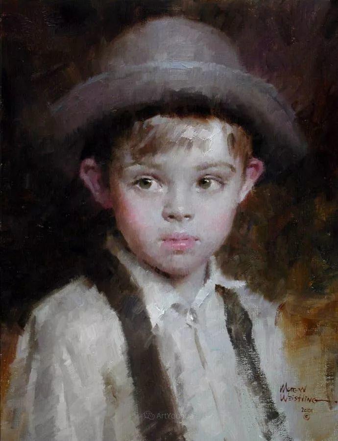 最平凡的幸福,有爱的儿童油画!美国画家摩根·威斯特林作品集一插图23