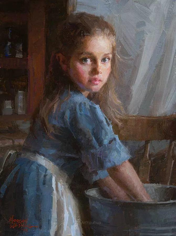 最平凡的幸福,有爱的儿童油画!美国画家摩根·威斯特林作品集一插图24