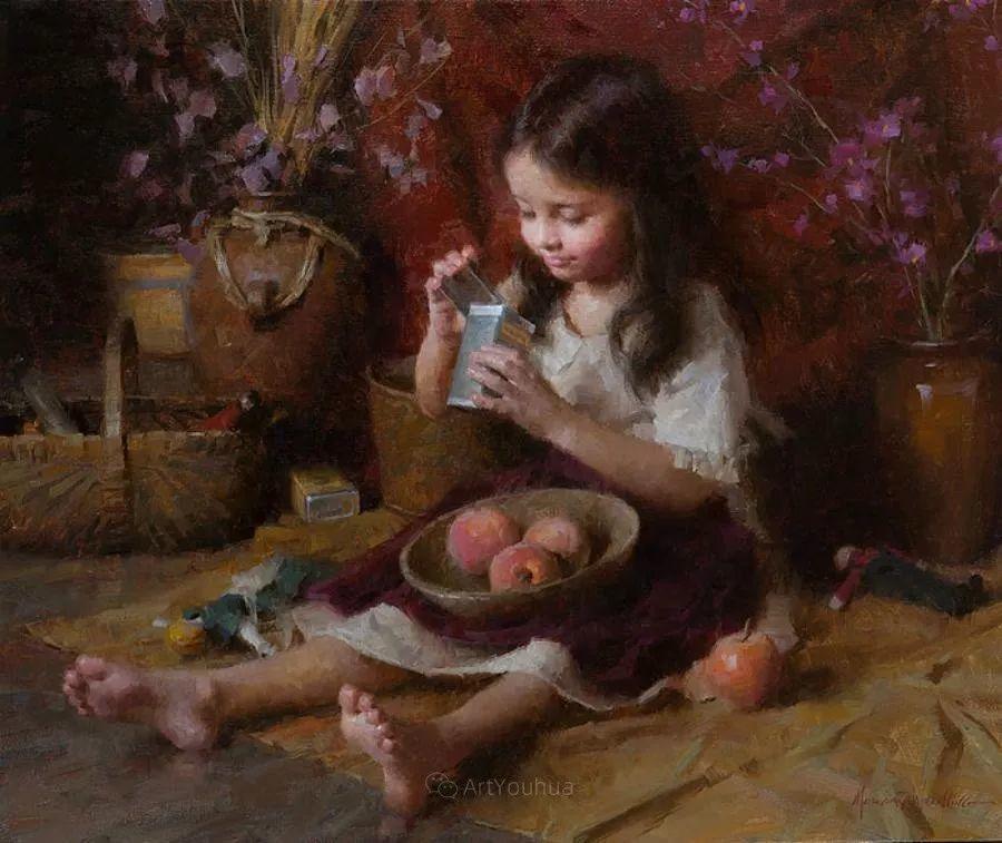 最平凡的幸福,有爱的儿童油画!美国画家摩根·威斯特林作品集一插图25