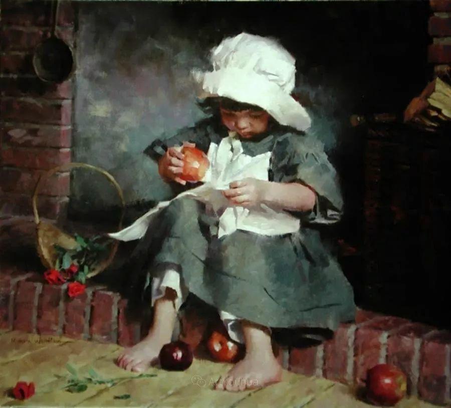 最平凡的幸福,有爱的儿童油画!美国画家摩根·威斯特林作品集一插图27