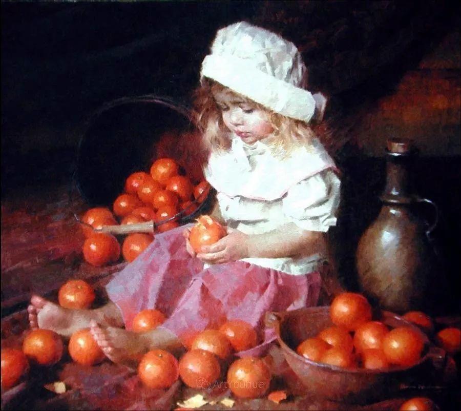 最平凡的幸福,有爱的儿童油画!美国画家摩根·威斯特林作品集一插图28