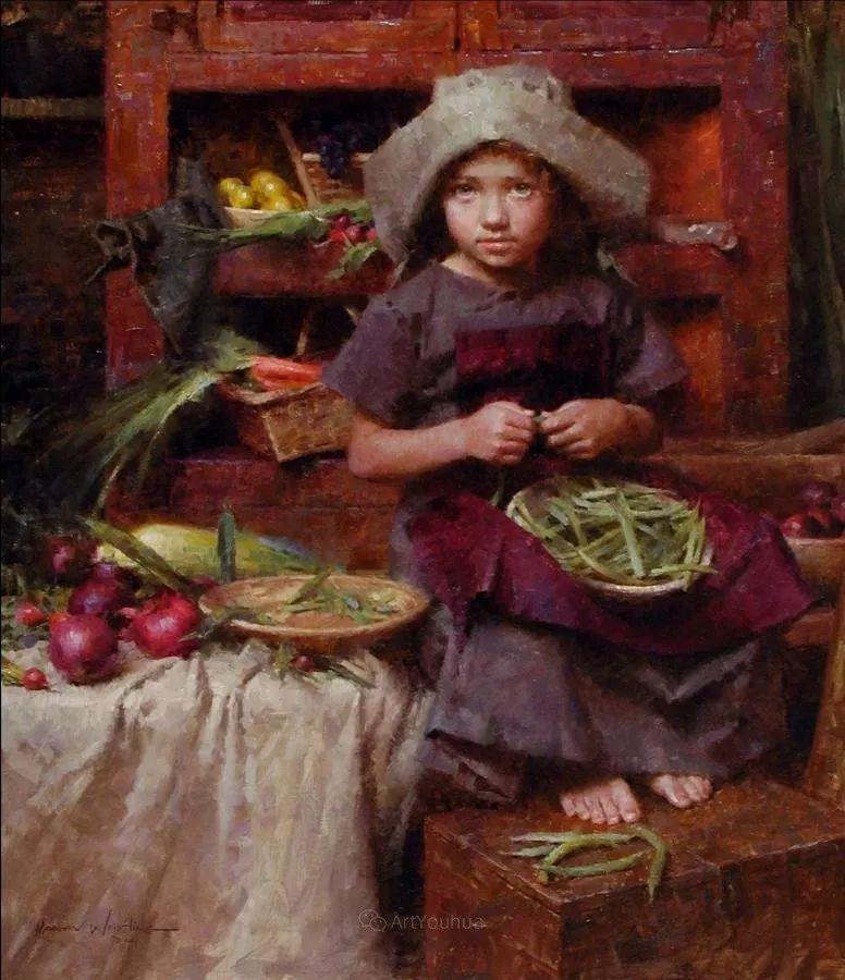 最平凡的幸福,有爱的儿童油画!美国画家摩根·威斯特林作品集一插图29