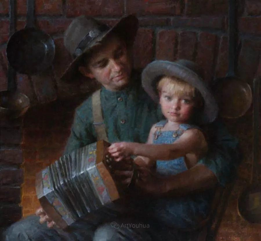 最平凡的幸福,有爱的儿童油画!美国画家摩根·威斯特林作品集一插图35