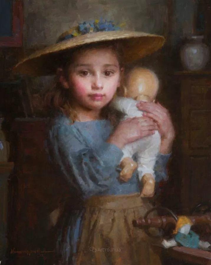 最平凡的幸福,有爱的儿童油画!美国画家摩根·威斯特林作品集一插图38