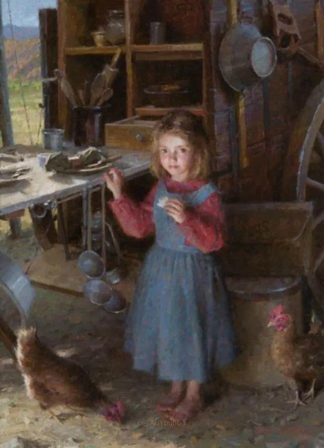 最平凡的幸福,有爱的儿童油画!美国画家摩根·威斯特林作品集一插图39