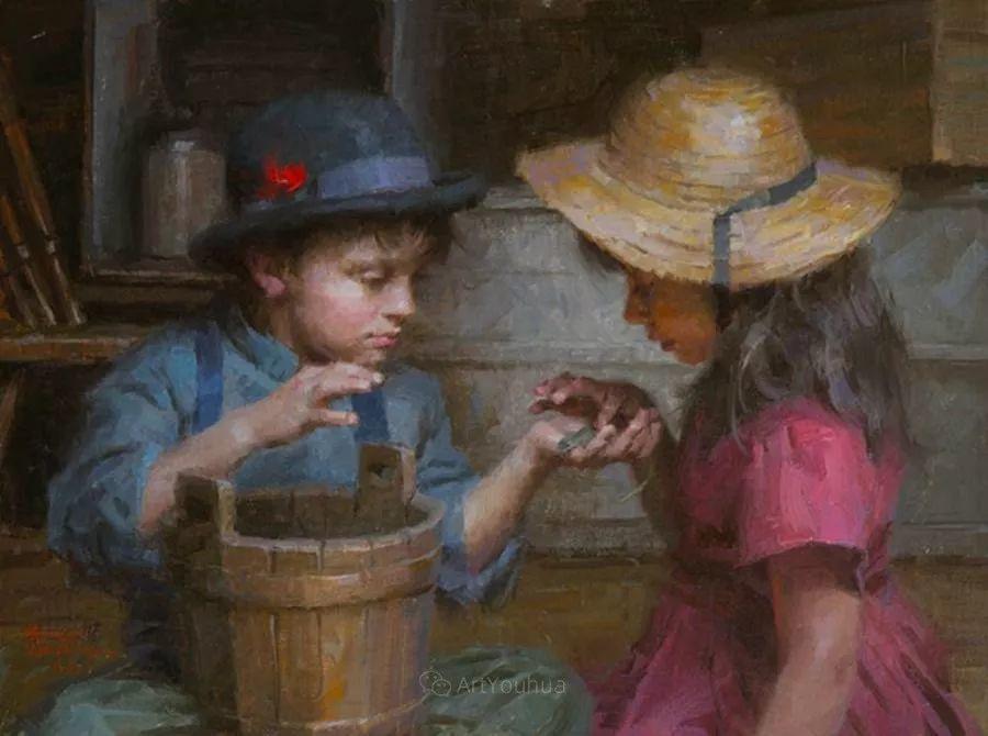 最平凡的幸福,有爱的儿童油画!美国画家摩根·威斯特林作品集一插图40