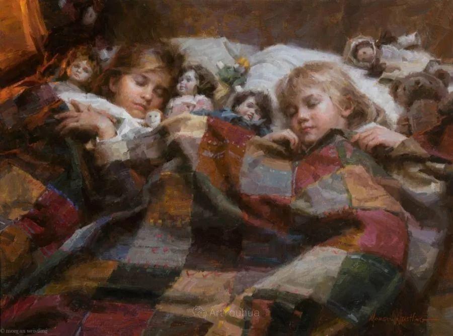 最平凡的幸福,有爱的儿童油画!美国画家摩根·威斯特林作品集一插图42