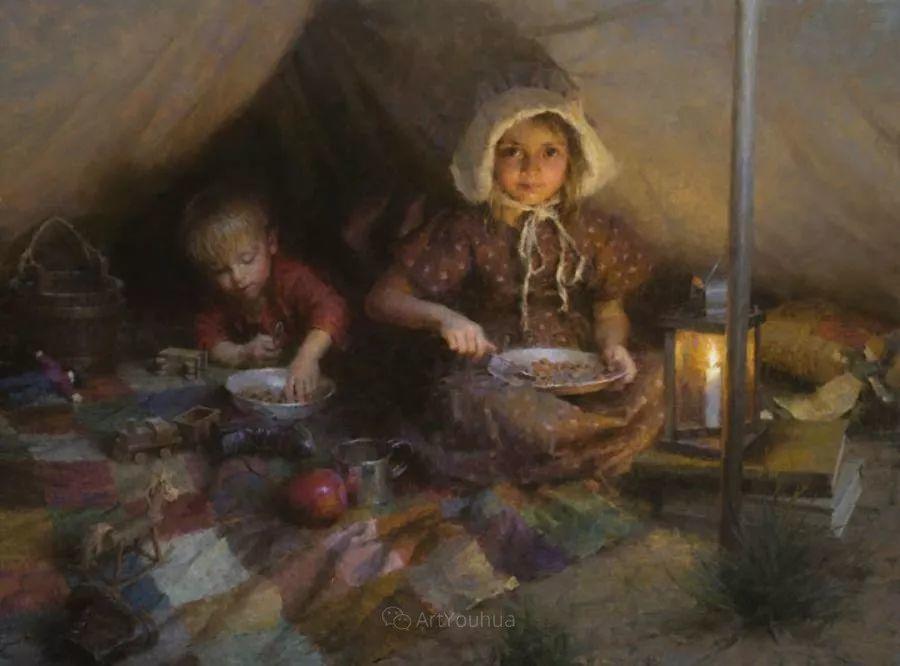 最平凡的幸福,有爱的儿童油画!美国画家摩根·威斯特林作品集一插图43