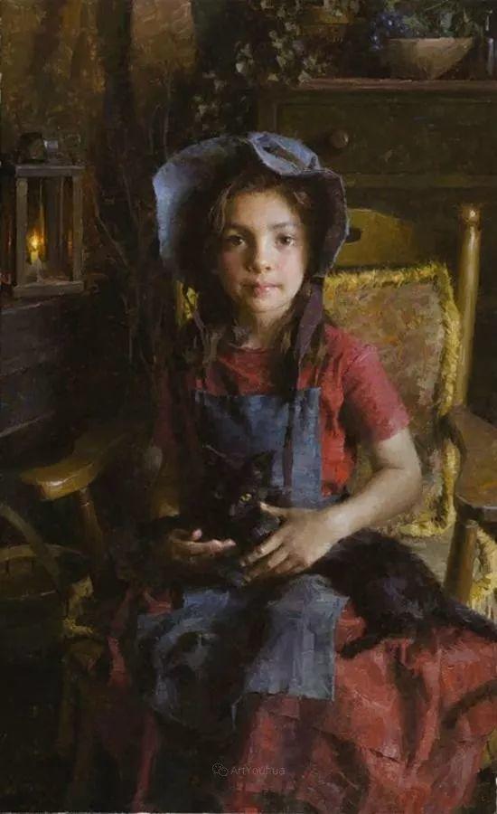 最平凡的幸福,有爱的儿童油画!美国画家摩根·威斯特林作品集一插图44