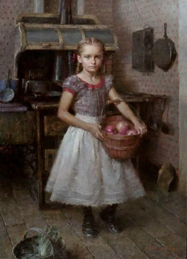 最平凡的幸福,有爱的儿童油画!美国画家摩根·威斯特林作品集一插图46