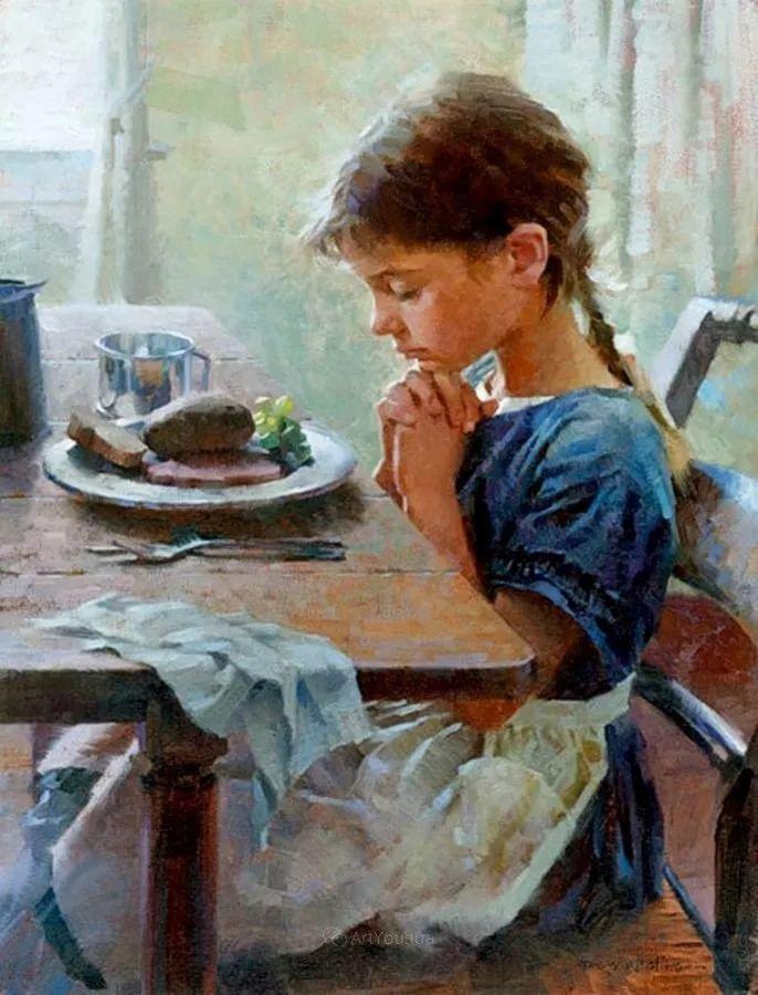 最平凡的幸福,有爱的儿童油画!美国画家摩根·威斯特林作品集一插图47