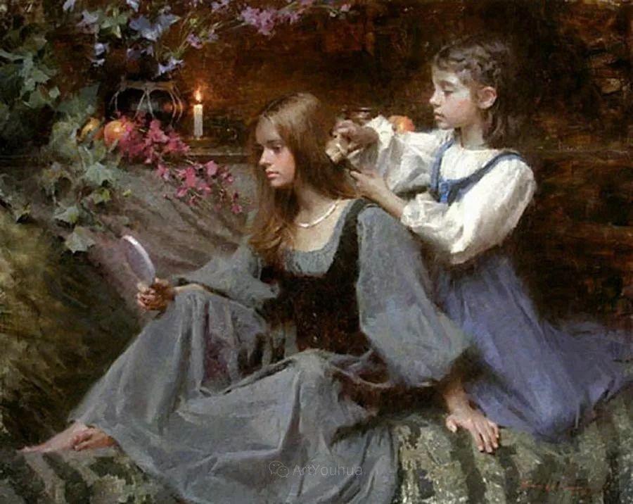 最平凡的幸福,有爱的儿童油画!美国画家摩根·威斯特林作品集一插图48